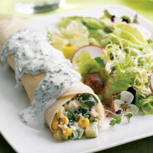 Healthy breakfast - Summer Vegetable Crepes