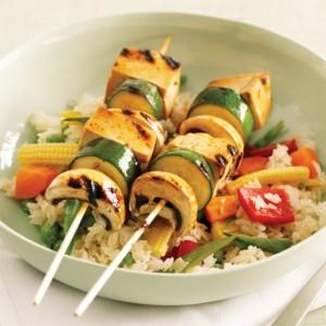 Teriyaki Vegan Tofu kebabs - Vegan Recipes