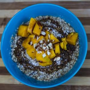 banana mango porridge